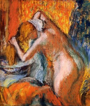 Edgar Degas : After the Bath, Woman Drying Her Hair