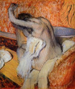 Edgar Degas : After the Bath, Woman Drying Herself III