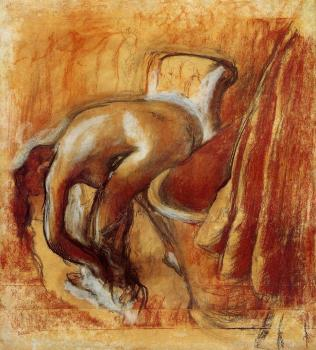 Edgar Degas : After the Bath, Woman Drying Herself IV