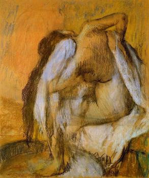 Edgar Degas : After the Bath, Woman Drying Herself V