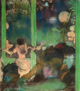 Edgar Degas : At the Cafe des Ambassadeurs II