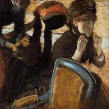 Edgar Degas : At the Milliner's VI