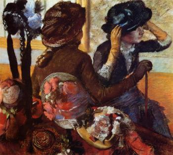 Edgar Degas : At the Milliner's VII