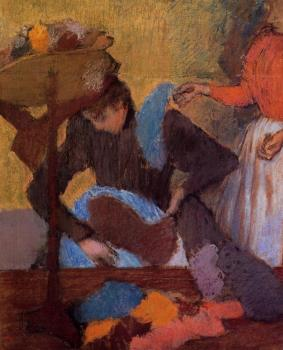 Edgar Degas : At the Milliner's IX