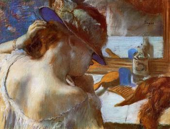 Edgar Degas : At the Mirror II