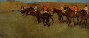 Edgar Degas : At the Races   Before the Start