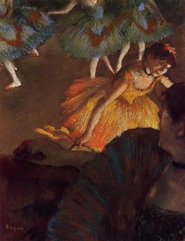 Edgar Degas : Ballerina and Lady with a Fan II