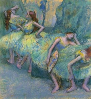 Edgar Degas : Ballet Dancers in the Wings