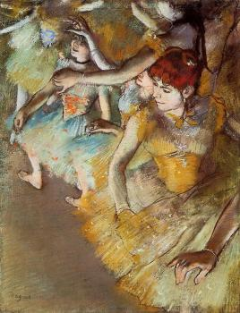Edgar Degas : Ballet Dancers on the Stage