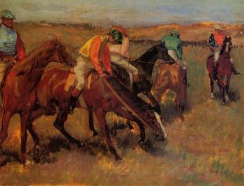 Edgar Degas : Before the Race IV