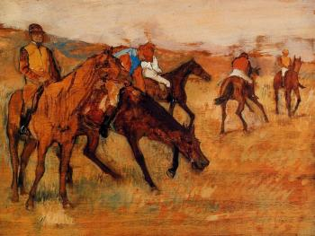 Edgar Degas : Before the Race V