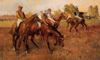 Edgar Degas : Before the Race VI