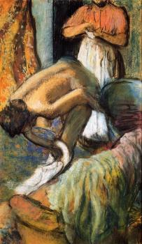 Edgar Degas : Breakfast after the Bath