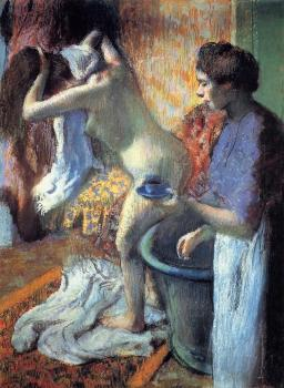 Edgar Degas : Breakfast after the Bath II