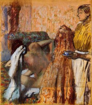 Edgar Degas : Breakfast after the Bath III