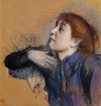 Edgar Degas : Bust of a Woman