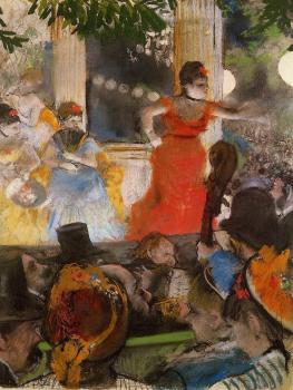 Edgar Degas : Cafe Concert   At Les Ambassadeurs