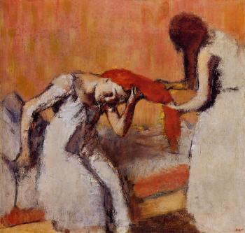Edgar Degas : Combing the Hair III