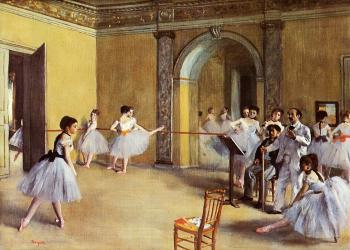 Edgar Degas : Dance Class at the Opera