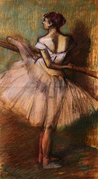 Edgar Degas : Dancer at the Barre III