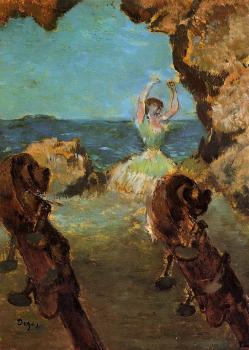 Edgar Degas : Dancer on Stage II