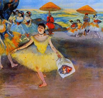 Edgar Degas : Dancer with a Bouquet Bowing