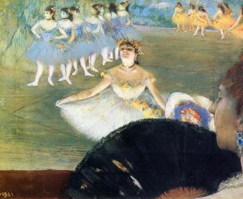 Edgar Degas : Dancer with a Bouquet of Flowers