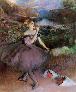 Edgar Degas : Dancer with Bouquets
