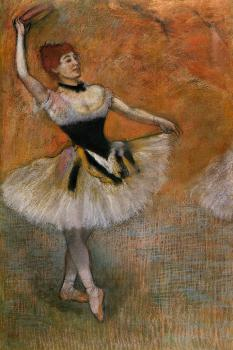 Edgar Degas : Dancer with Tambourine