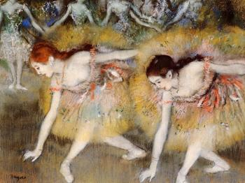 Edgar Degas : Dancers Bending Down (The Ballerinas)