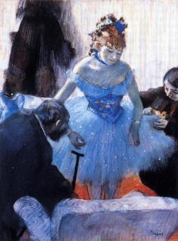 Edgar Degas : Dancer's Dressing Room