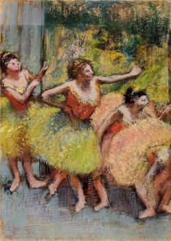 Edgar Degas : Dancers in Green and Yellow