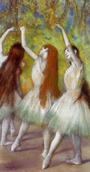 Edgar Degas : Dancers in Green