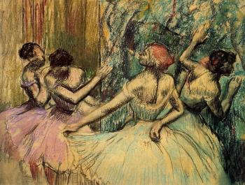 Edgar Degas : Dancers in the Wings
