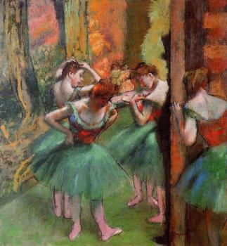 Edgar Degas : Dancers, Pink and Green