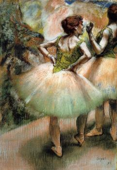 Edgar Degas : Dancers, Pink and Green II
