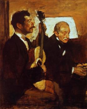 Edgar Degas : Degas' Father Listening to Lorenzo Pagans