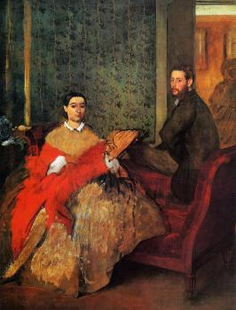 Edgar Degas : Edmondo and Therese Morbilli