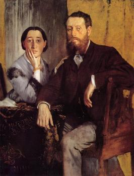Edgar Degas : Edmondo and Therese Morbilli II