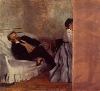 Edgar Degas : Edouard Manet and Madame