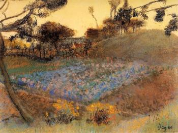 Edgar Degas : Field of Flax