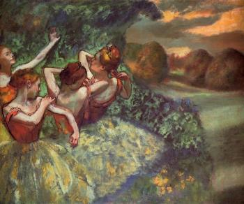 Edgar Degas : Four Dancers II