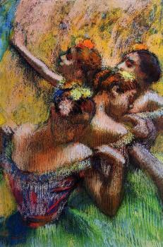 Edgar Degas : Four Dancers III