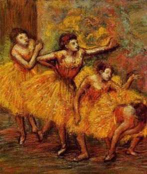 Edgar Degas : Four Dancers IV