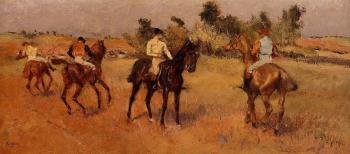 Edgar Degas : Four Jockeys