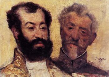 Edgar Degas : General Mellinet and Chief Rabbi Astruc