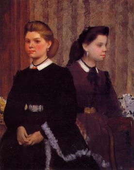 Edgar Degas : Giovanna and Giulia Belleli