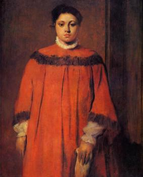Edgar Degas : Girl in Red