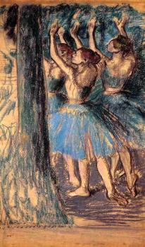 Edgar Degas : Group of Dancers, Tree Decor