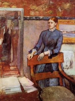 Edgar Degas : Helene Rouart in Her Father's Study